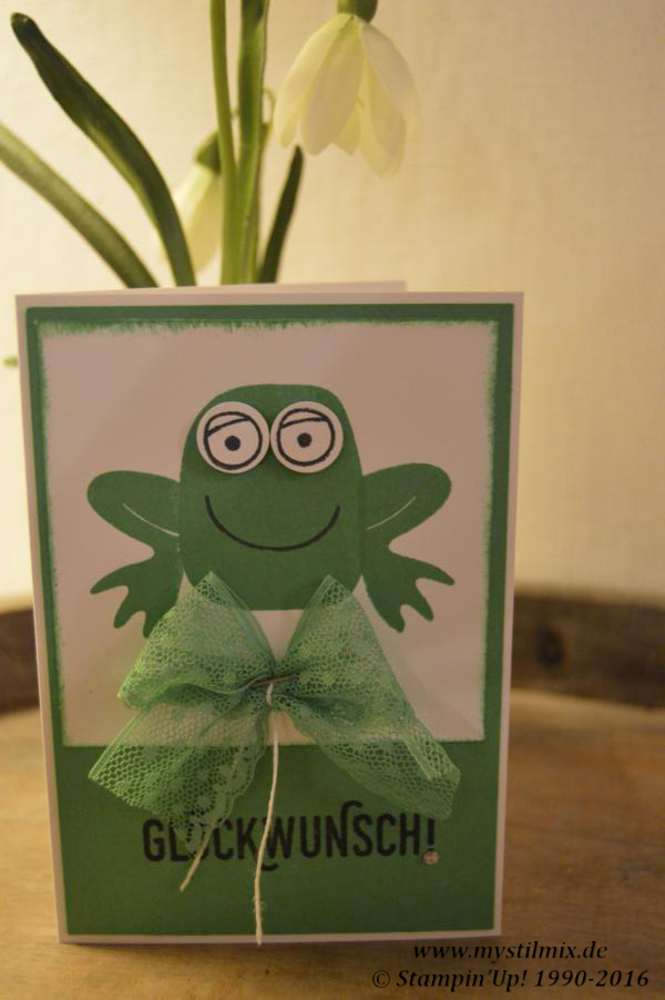 Froschkarte Januar