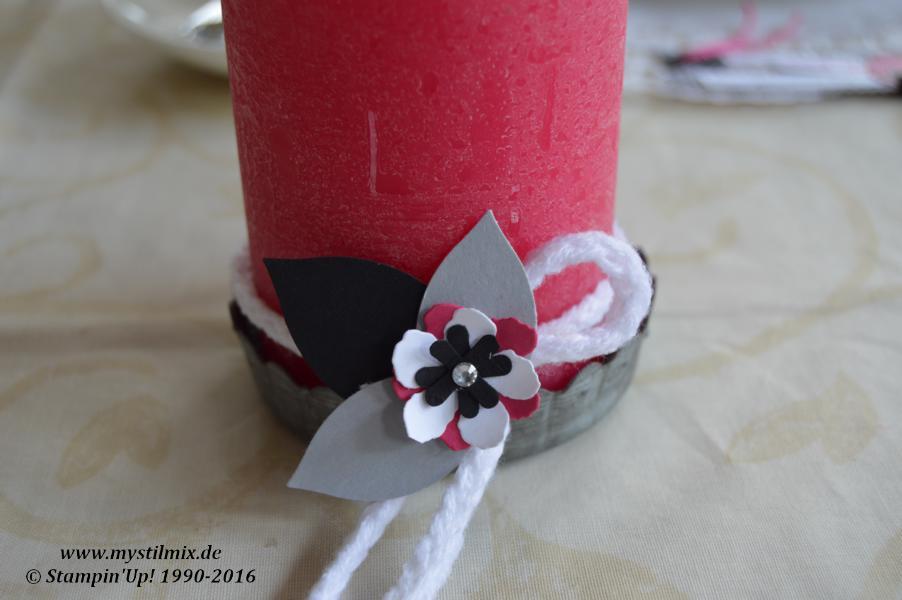 Geburtstagsdeko-Pink mit Pep-Stampin up-Framelits Pflanzen Potpourri (2)