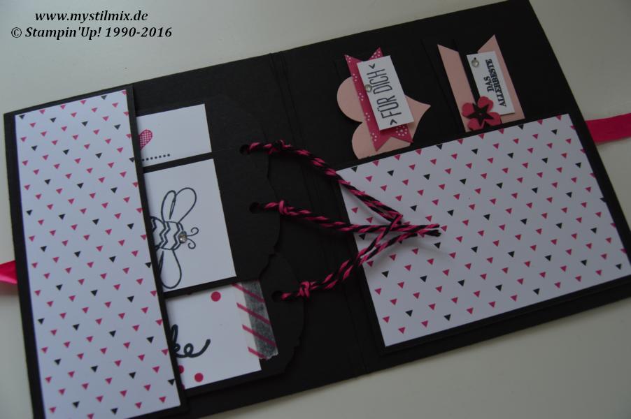 Mappe-Anhänger-Aufkleber-Pink mit Pep-Stampin up2