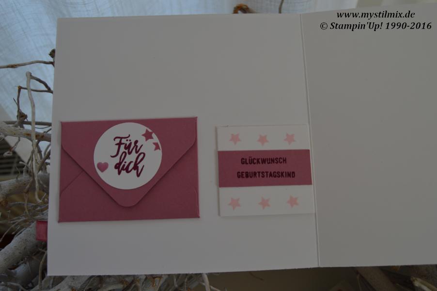 MyStilmix-Geburtstagskarte mit Lesezeichen-Wald der Worte-Stampin up3