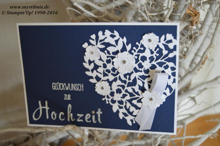 Stampin up-Hochzeitskarte Blühendes Herz-MyStilmix1