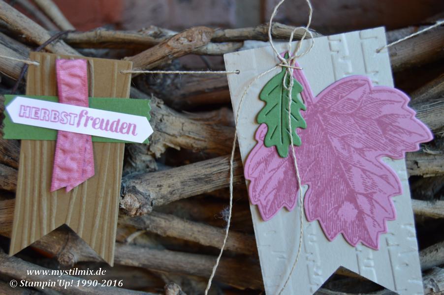 Stampin up-Herbstgirlande-Framelits Laub-Stemeplset Vintage Leaves-MyStilmix3