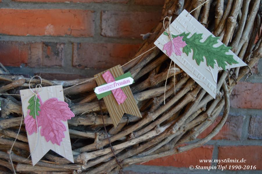 Stampin up-Herbstgirlande-Framelits Laub-Stempelset Vintage Leaves-MyStilmix1