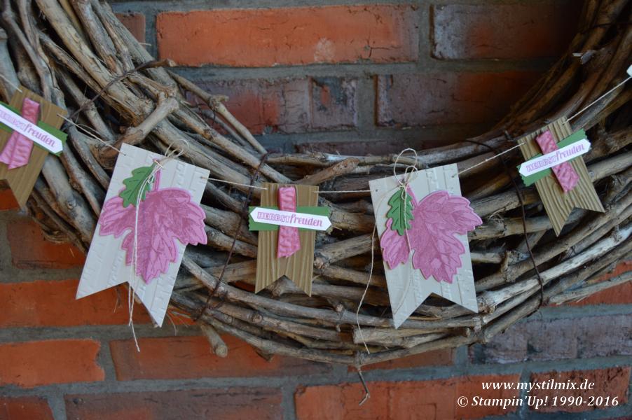 Stampin up-Herbstgirlande-Framelits Laub-Stempelset Vintage Leaves-MyStilmix2