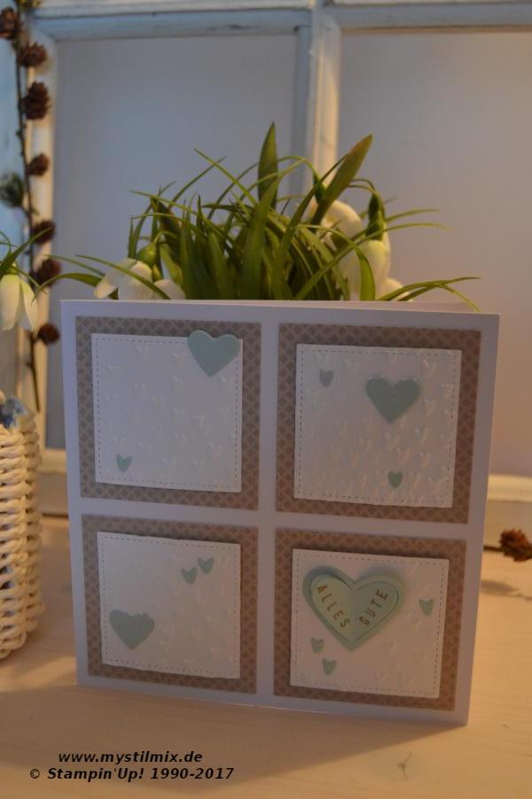 Stampin up-Karte- Prägeform Blütenegen-Sale A Bration-MyStilmix1