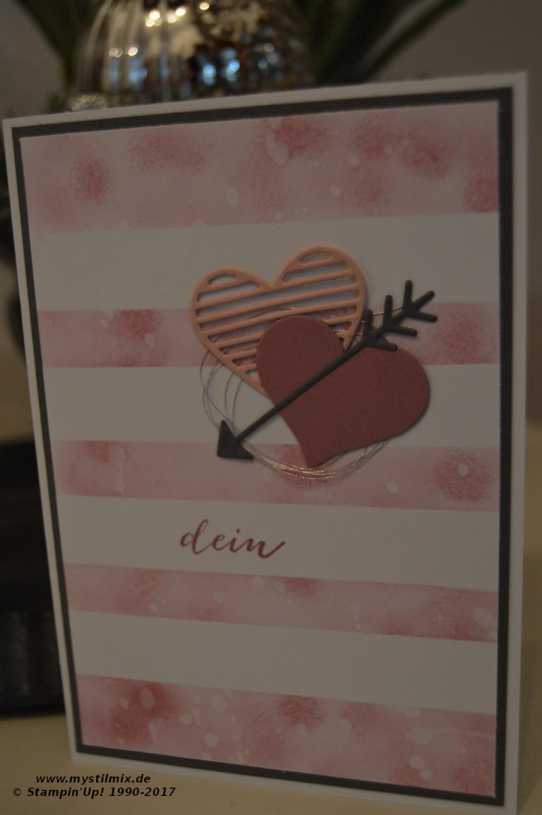 Stampin up - Valentinstagskarte - Framelits Liebesgrüße - MyStilmix