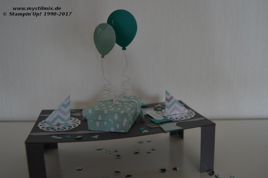 Stampin up - Geburtstagstisch - Framelits Teestunde - MyStilmix1
