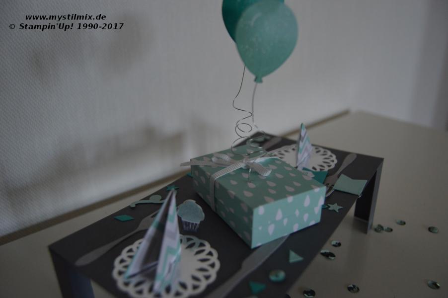 Stampin up - Geburtstagstisch - Framelits Teestunde - MyStilmix2