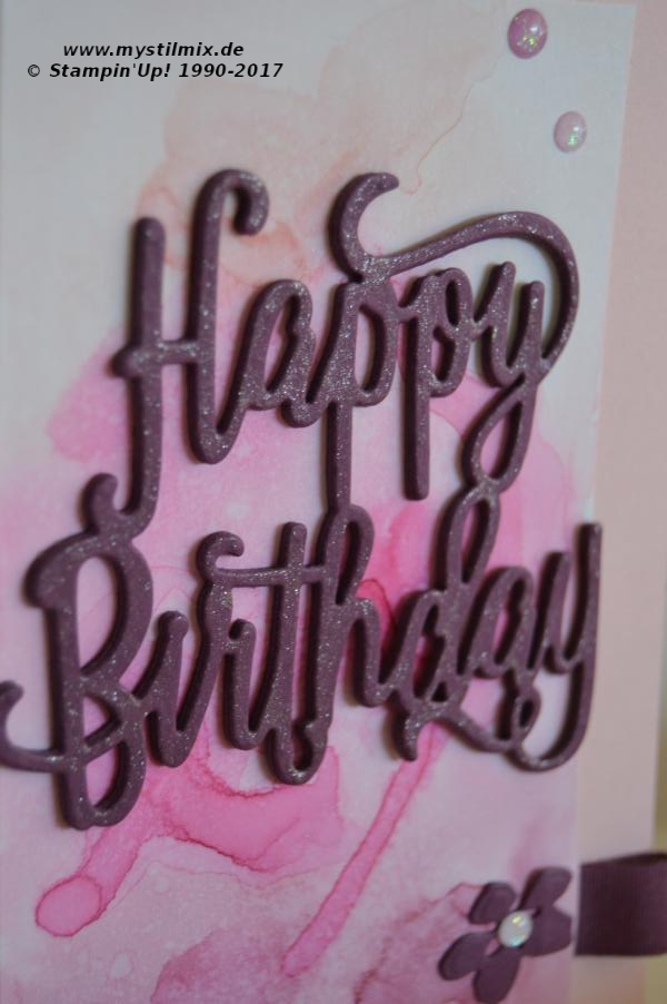 Stampin up - Geburtstagskarte Happy Birthday - Thinlits Form Happy Birthday - MyStilmix2