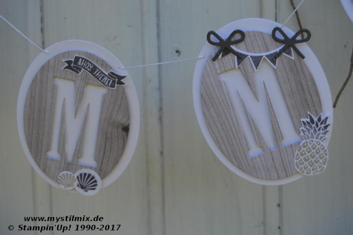 Stampin up - Sommergirlande mit Holzdekor - Große Buchstaben - MyStilmix2