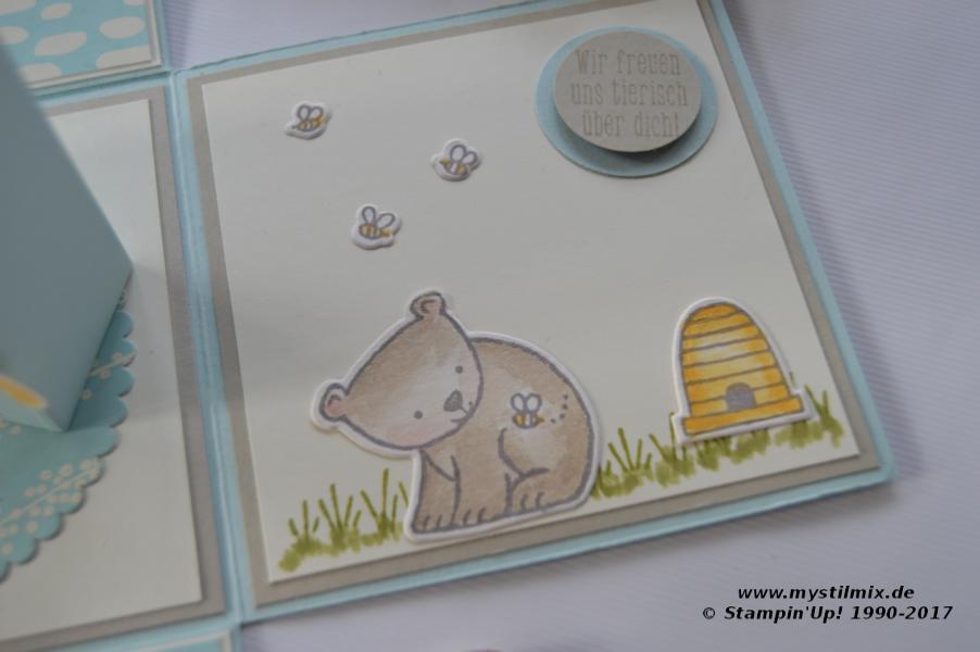 Stampin up - Explosionsbox - Tierische Glückwünsche - MyStilmix4