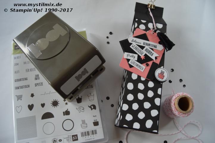 Stampin up - Geschenkeverpackung - Thinlits Grund zum Feiern - MyStilmix1