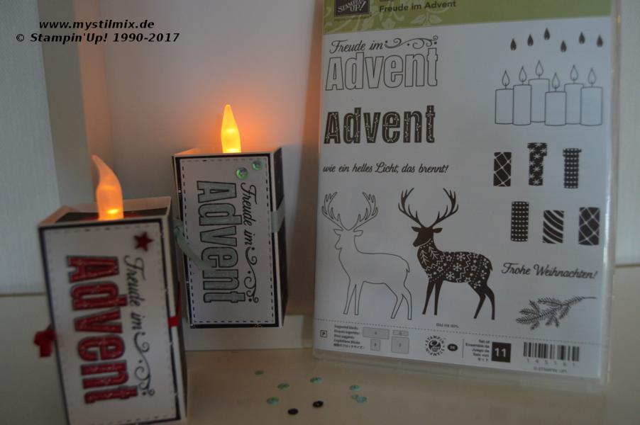 Stampin up - Freude im Advent - Teelicht - MyStilmix2