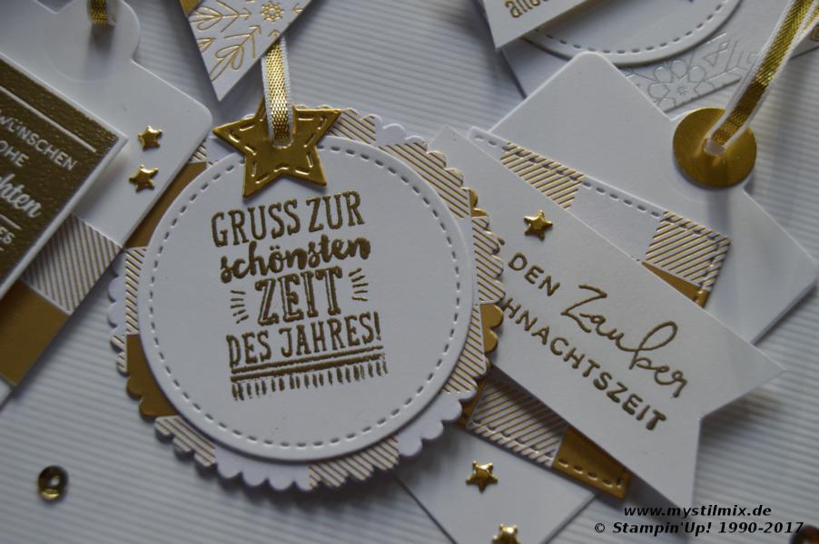 Stampin up - Weihnachtsanhänger - Winterfreuden - MyStilmix3
