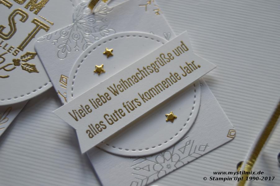Stampin up - Weihnachtsanhänger - Winterfreuden - MyStilmix4