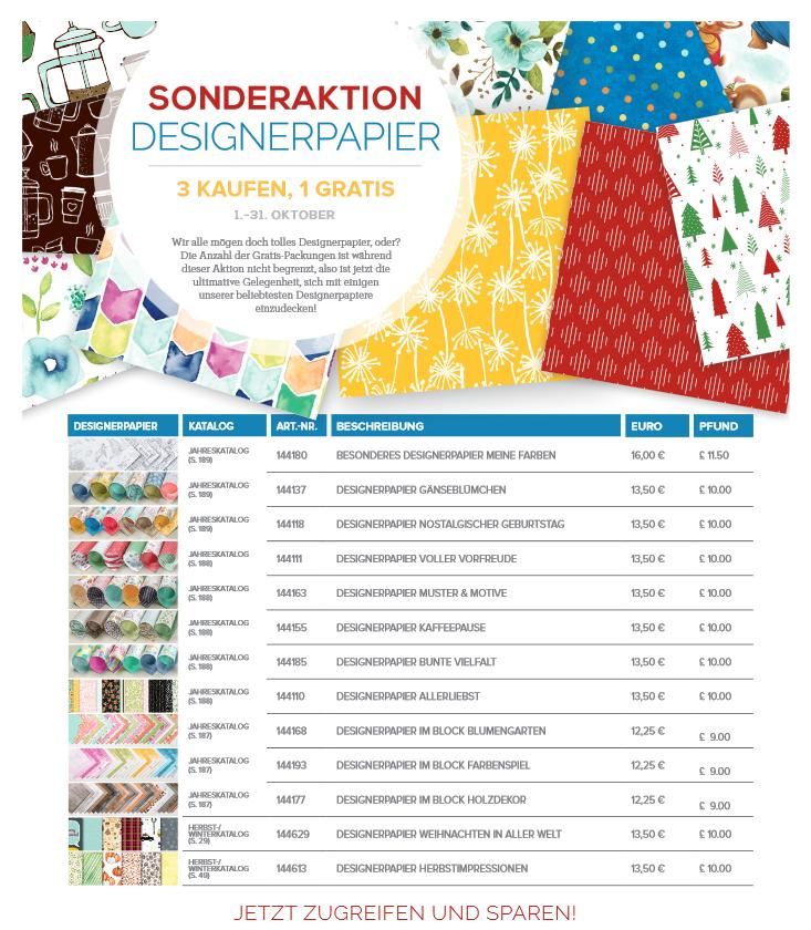 Stampin up -  Sonderaktion Designerpapier - MyStilmix