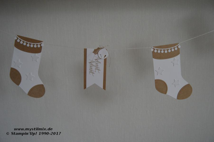 Stampin up - Weihnachtsgirlande - geschmückte Stiefel - MyStilmix1