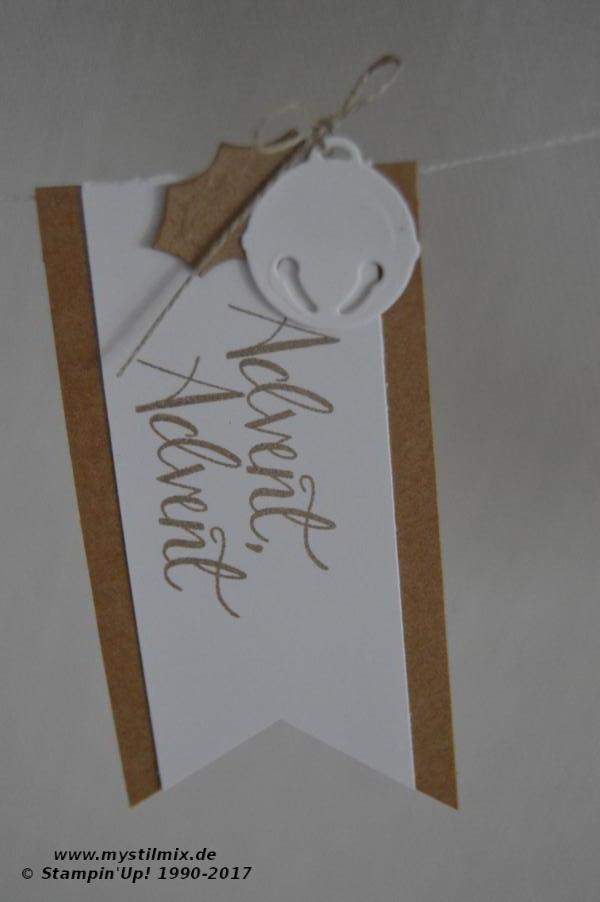 Stampin up - Weihnachtsgirlande - geschmückte Stiefel - MyStilmix3