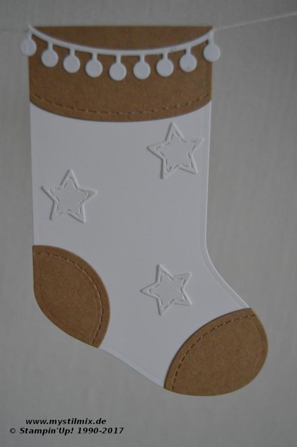 Stampin up - Weihnachtsgirlande - geschmückte Stiefel - MyStilmix2