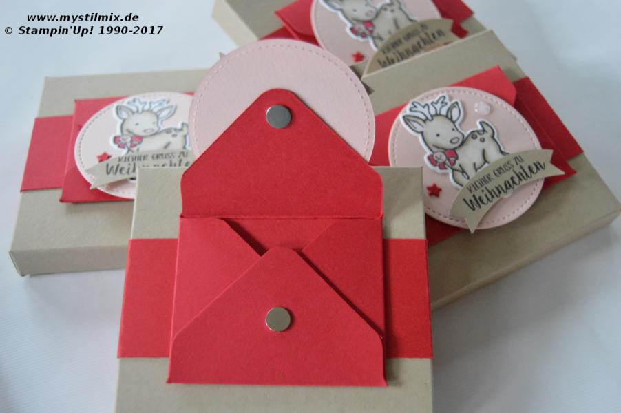 Stampin up - Verpackung mit Umschlag - Stempel Seasonal Chums - Stampin' Blends -  MyStilmix2