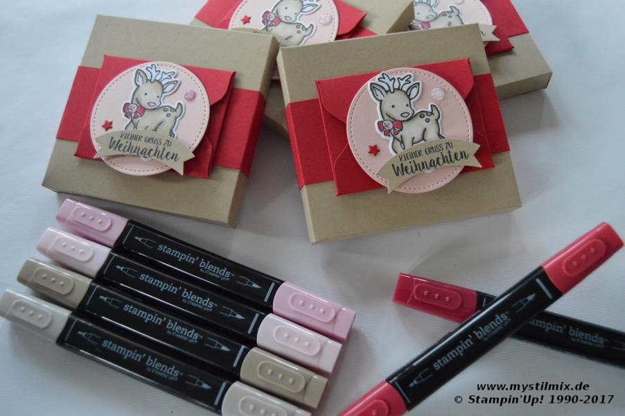Stampin up - Verpackung mit Umschlag - Stempel Seasonal Chums - Stampin' Blends - MyStilmix1
