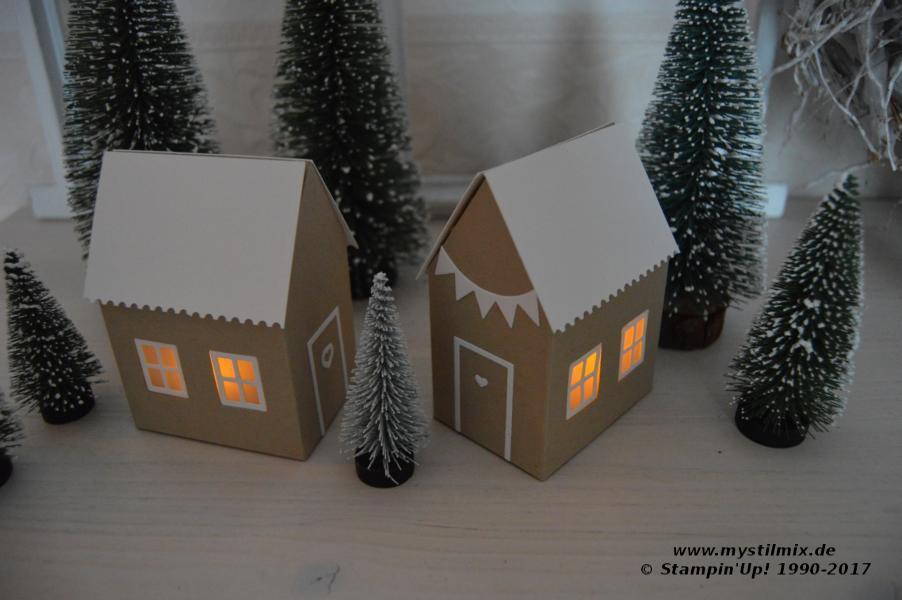 Stampin up - Teelichthäuser - Thinlits Zu Hause - MyStilmix1