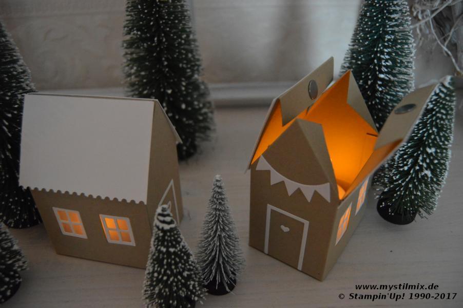 Stampin up - Teelichthäuser - Thinlits Zu Hause - MyStilmix2