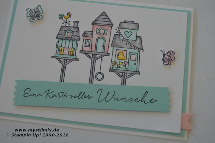 Stampin up - Frühlingskarte - Flying Home - Beste Wünsche - MyStilmix