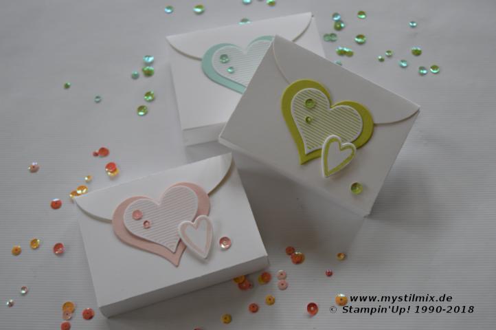 Stampin up - Kleine Verpackung - Schachtel voller Liebe - MyStilmix1