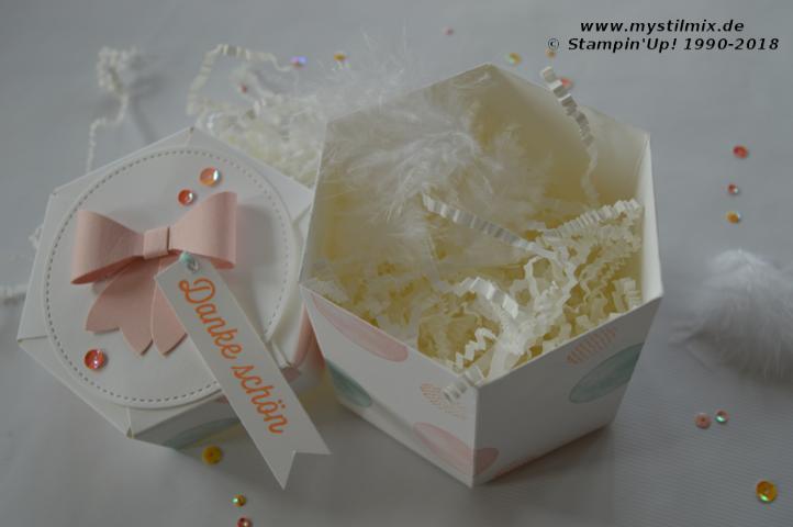 Stampin up - Sechseckbox - Vielseitige Grüße - MyStilmix2