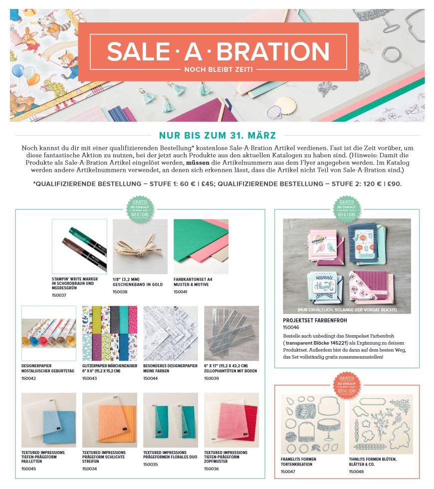 Stampin up - Sale-A-Bration Endspurt - Gratisprodukte - MyStilmix