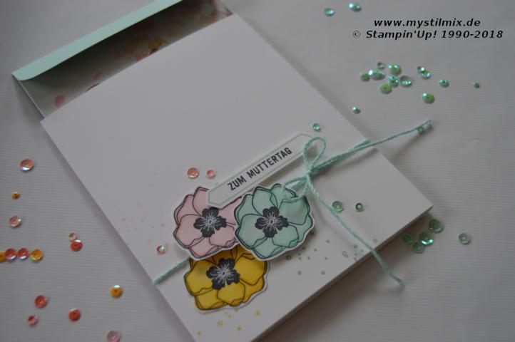 Stampin up - Muttertagsgutschein - Farbenfroh - MyStilmix2