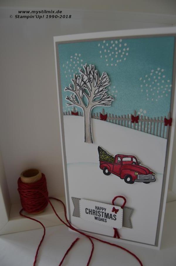 Stampin up - Erste Weihnachtskarte - Farmhouse Christmas - MyStilmix