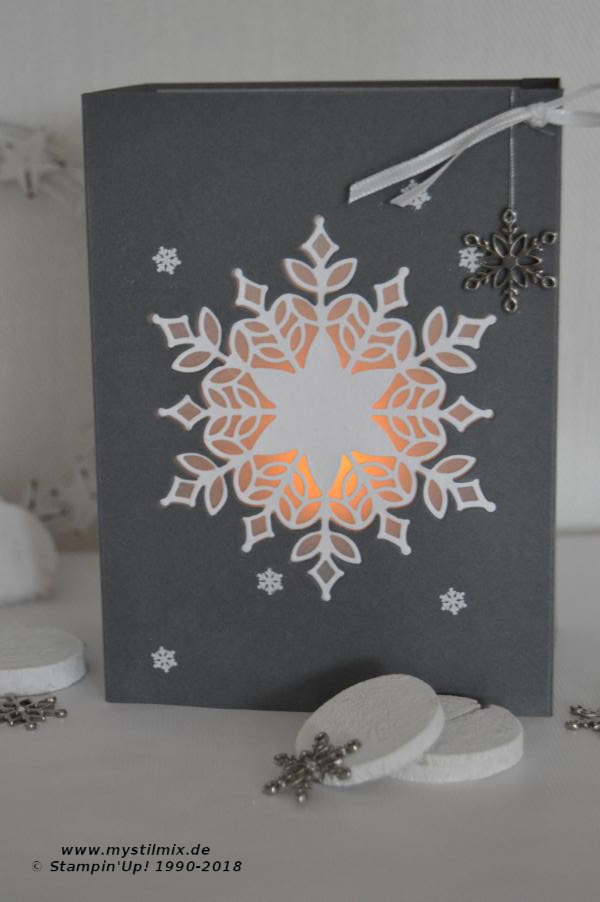 Stampin up - Teelicht Schneegestöber - MyStilmix