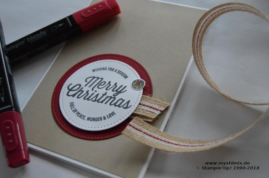 Stampin up - Farmhouse Christmas - Weihnachtskarte - MyStilmix1