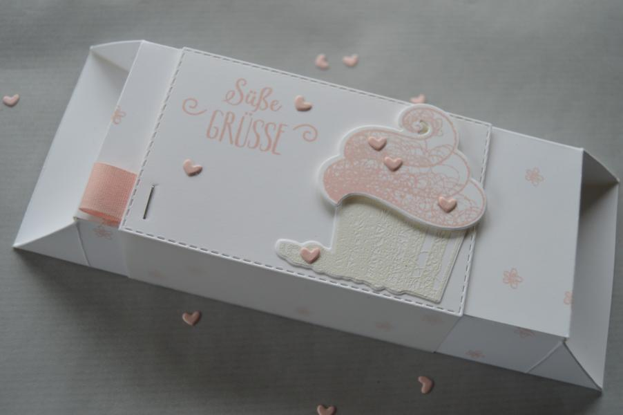 Stampin up - Süsse Grüsse Verpackung - Framelits Cupcake - MyStilmix