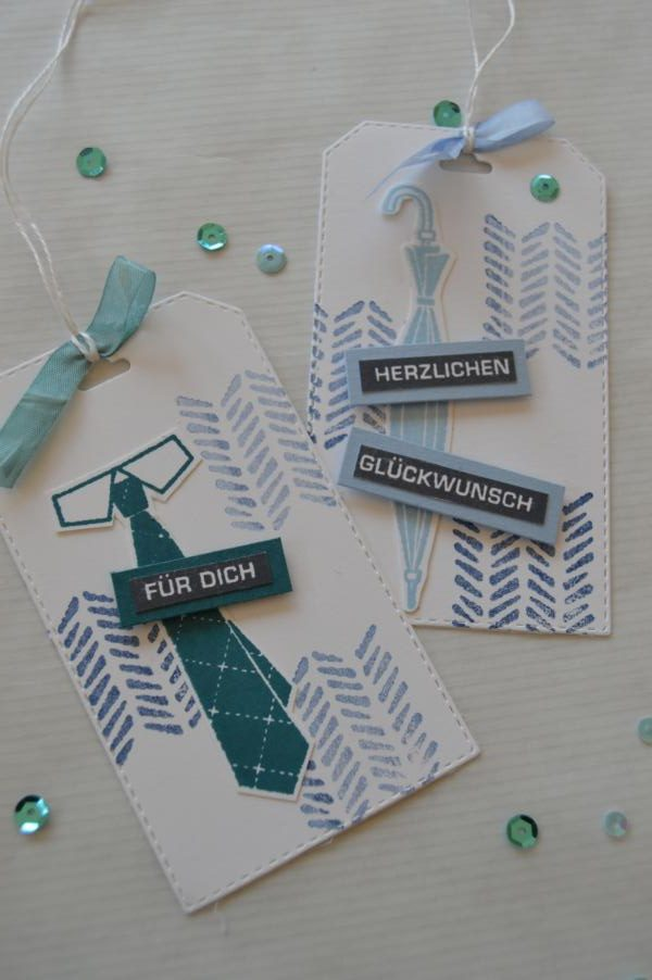Stampin up - Männergeburtstagskarte - Männeranhänger - Well dressed - MyStilmix