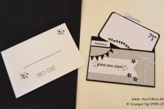 Einladungskarten schwarz-weiß